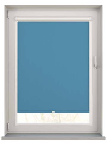 Perfect Fit Roller Blinds Unishade Blackout FR Cyan Blue