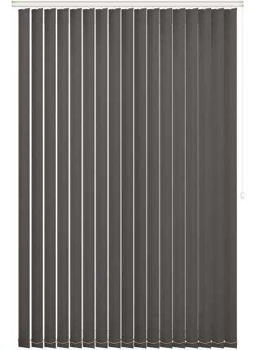 Replacement Vertical Blind Slats Unishade Blackout FR Dark Grey