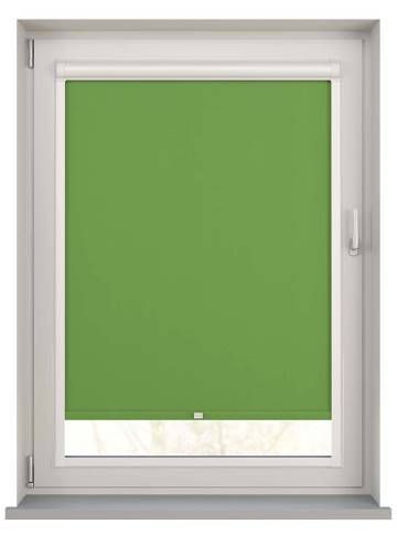 Perfect Fit Roller Blinds Unishade Blackout FR Kiwi Green