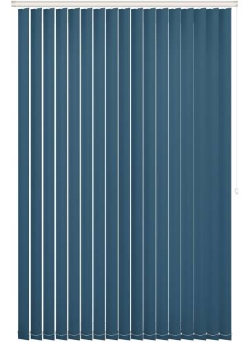 Replacement Vertical Blind Slats Unishade Blackout FR Lapis Blue