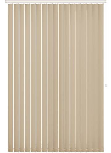 Replacement Vertical Blind Slats Unishade Blackout FR Light Cream