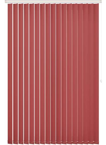 Replacement Vertical Blind Slats Unishade Blackout FR Morello Red