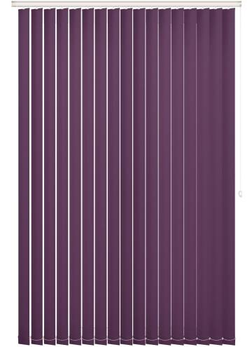 Replacement Vertical Blind Slats Unishade Blackout FR Mulberry Purple