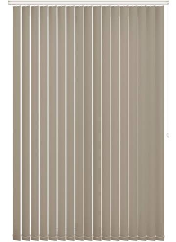 Replacement Vertical Blind Slats Unishade Blackout FR Taupe Brown