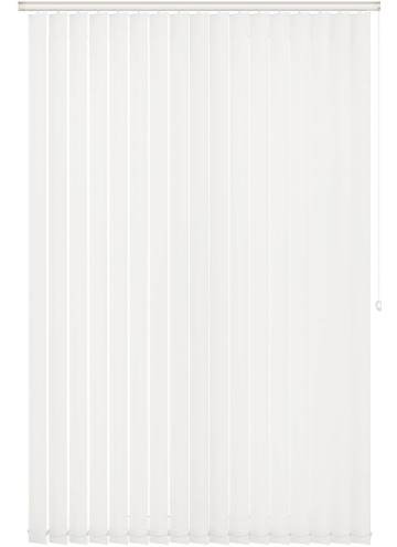 Replacement Vertical Blind Slats Unishade Blackout FR White