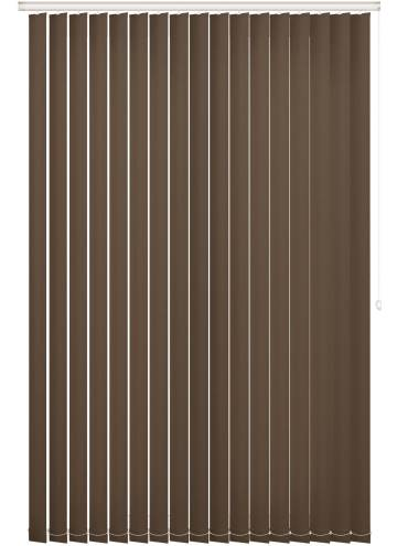 Replacement Vertical Blind Slats Vitra Blackout Roast
