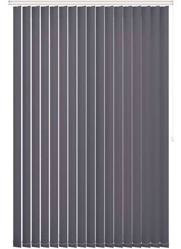 Replacement Vertical Blind Slats Vitra Blackout Slate Grey