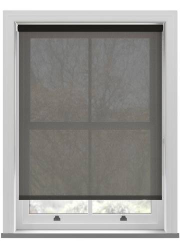 Roller Blinds Voile Jet Black