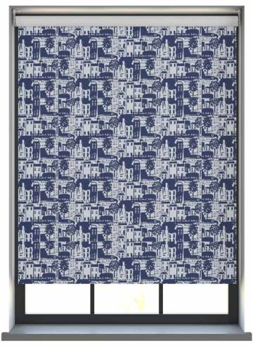 Roller Blinds Whitby PVC Blackout Navy Blue