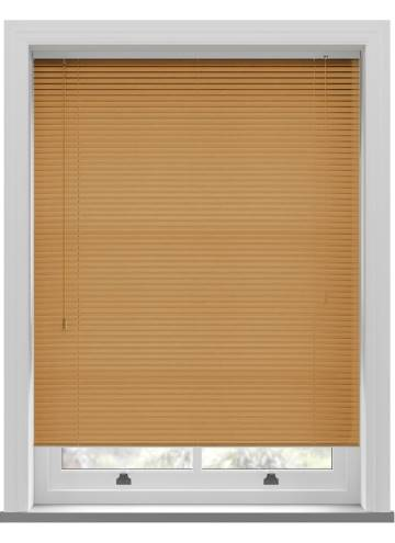 Venetian Blinds Wood Grain Effect 25mm Golden Oak