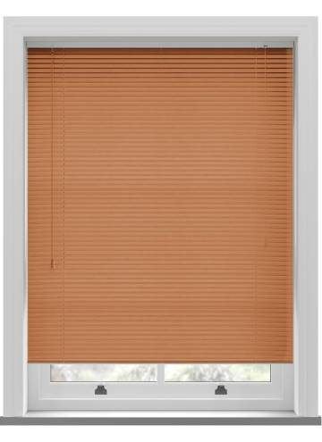 Venetian Blinds Wood Grain Effect 25mm Teak
