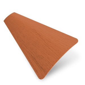 Wood Grain Effect 25mm Teak