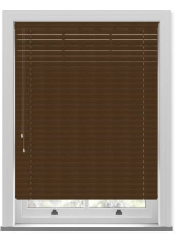 Venetian Blinds Wood Grain Effect 50mm Walnut TR9949