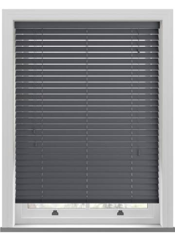 Wooden Blinds Zambezi Anthracite Grey
