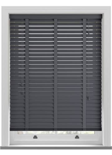 Wooden Blinds Zambezi Taped Anthracite Grey