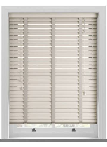 Wooden Blinds Zambezi Taped Mirren Cream