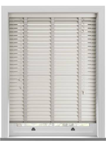 Wooden Blinds Zambezi Taped Polar White