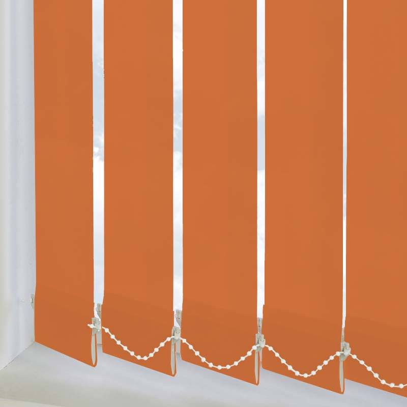 Replacement Vertical Blind Slats Splash Tango Orange