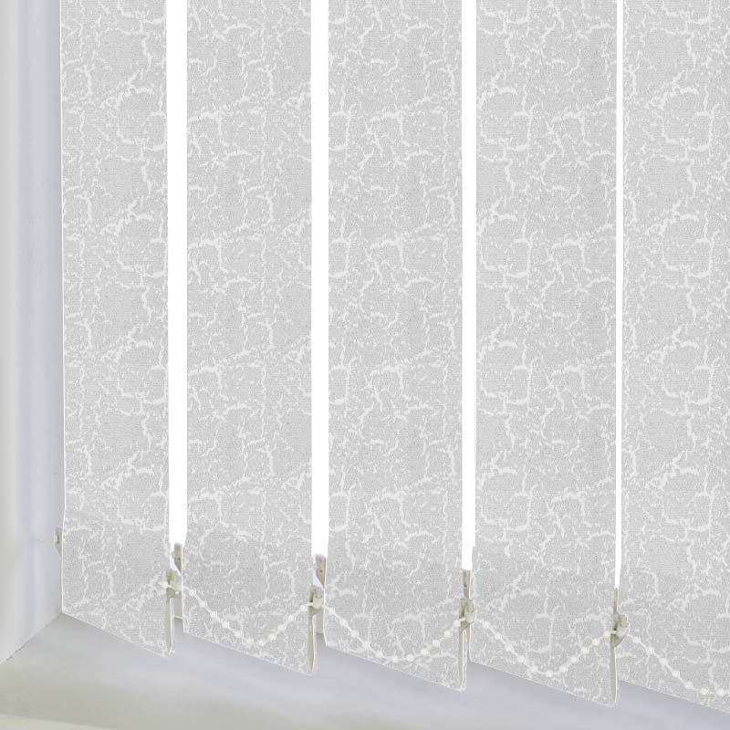 Replacement Vertical Blind Slats Metz PVC Blackout Snow White