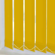 Replacement Vertical Blind Slats Bella Blackout Solar Yellow