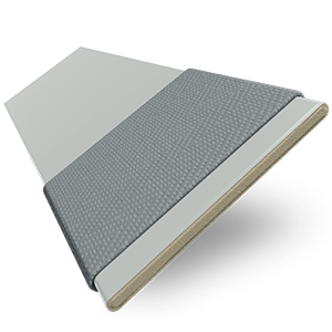 Nile Taped Slate Grey with Contrast Dark Grey Tape