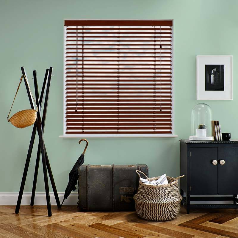 Deco 35mm Grained Lima Faux Wood Direct Blinds