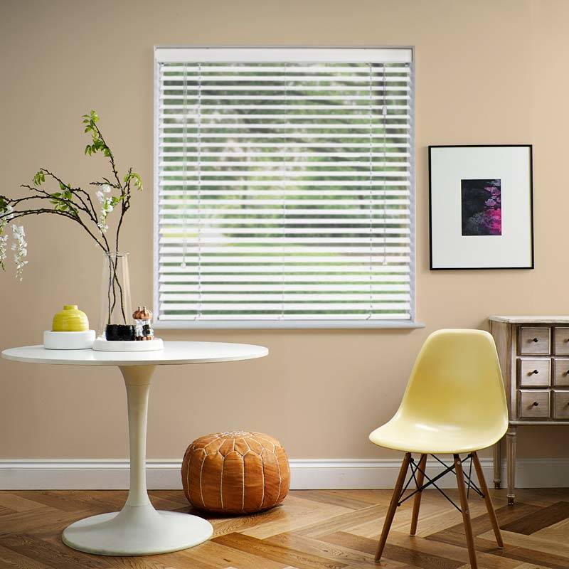 Impressions 50mm White Faux Wood Direct Blinds