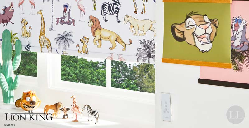 Classic Disney Roller blind in a playroom