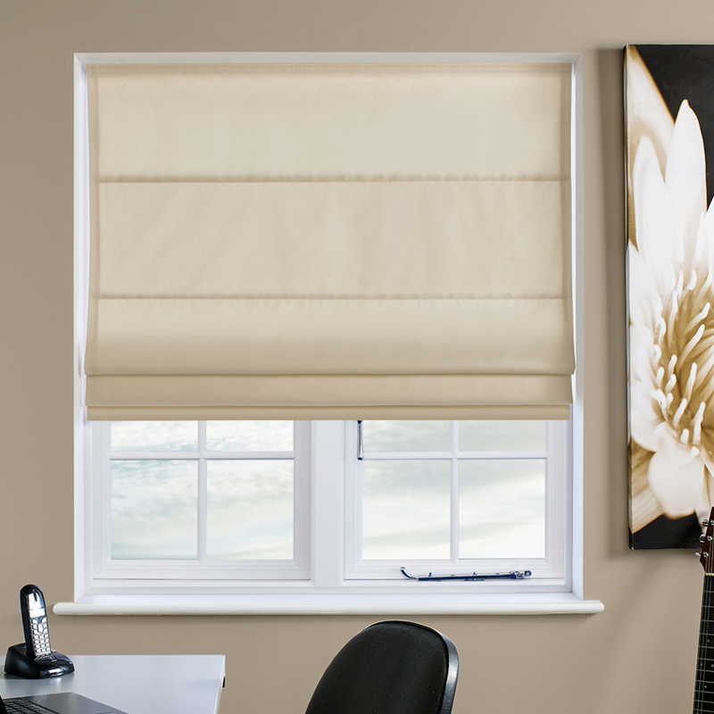 Faux Suede Cream Roman Blind Direct Blinds