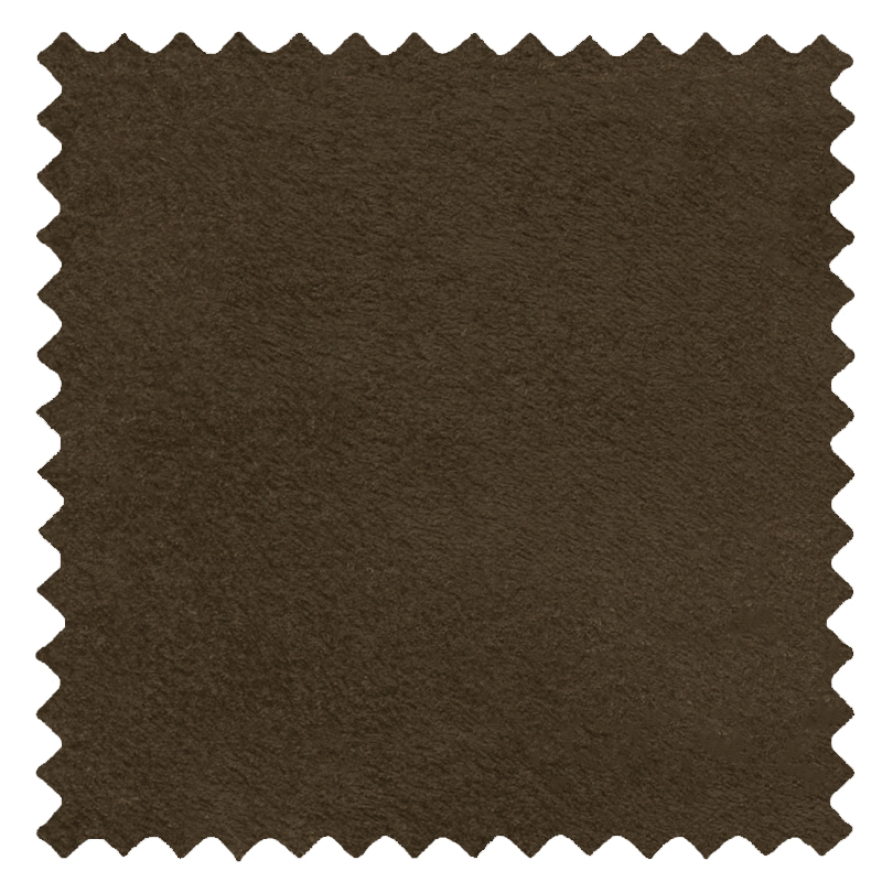 Ambassador Faux Suede Dark Brown swatch