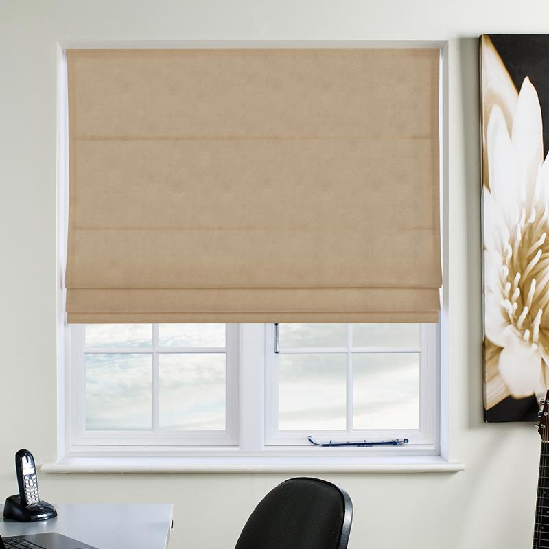 Faux Suede Deluxe Stone Roman Blind Direct Blinds