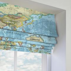 Roman Blinds Atlas Azure