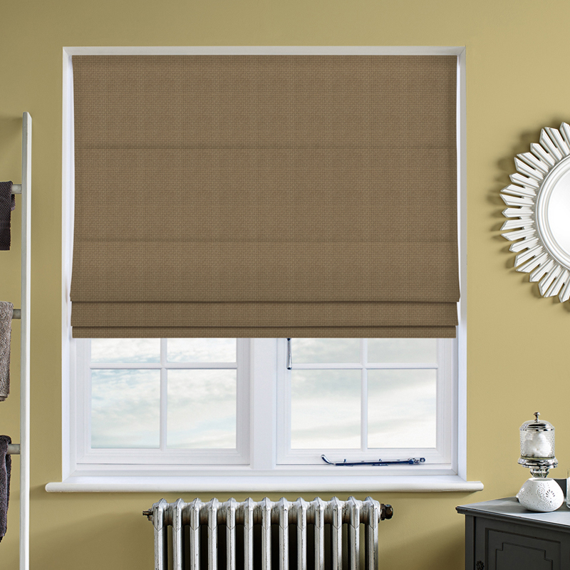 Basket Weave Beige Roman Blind Direct Blinds