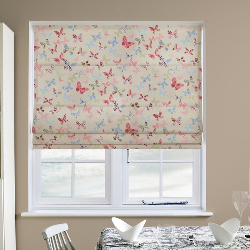 Butterfly Vintage Roman Blind Direct Blinds