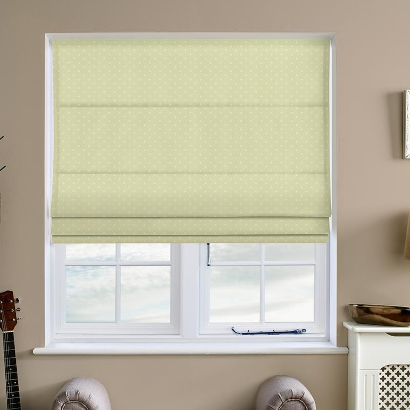 Dotty Sage Roman Blind Direct Blinds