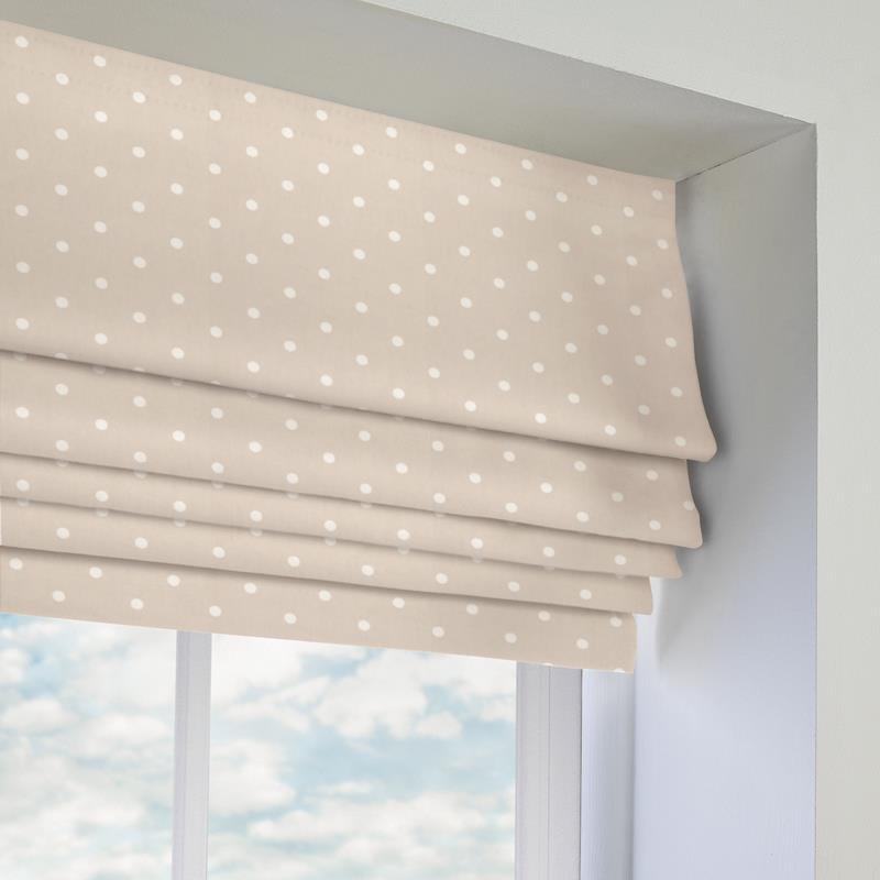 Dotty Taupe Roman Blind Direct Blinds