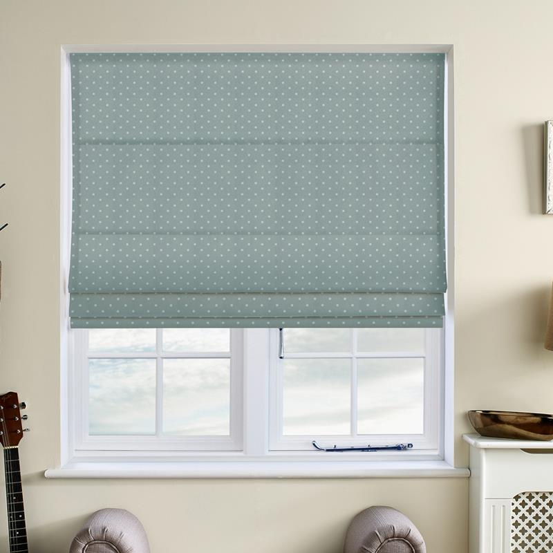 Full Stop Azure Roman Blind Direct Blinds