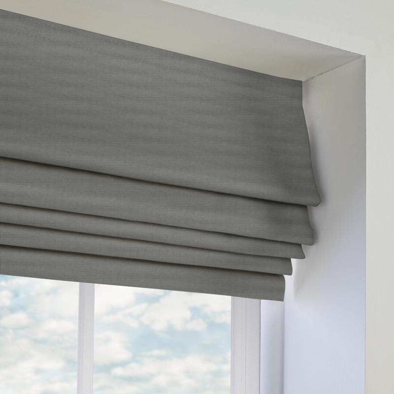 Panama Grey Roman Blind Direct Blinds