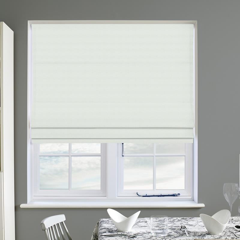 Panama White Roman Blind Direct Blinds