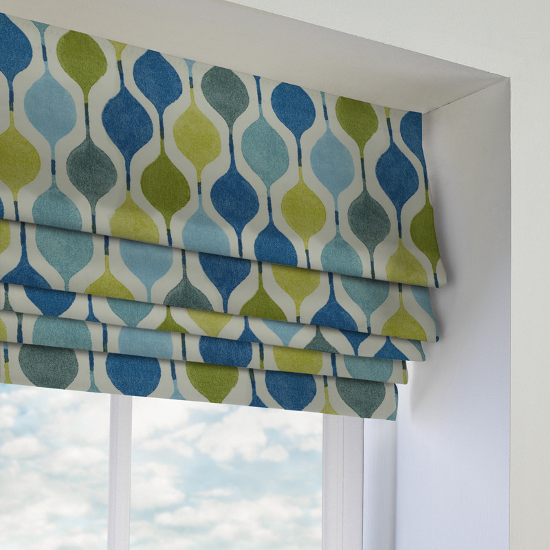Verve Bluebell Roman Blind Direct Blinds - Roman blinds