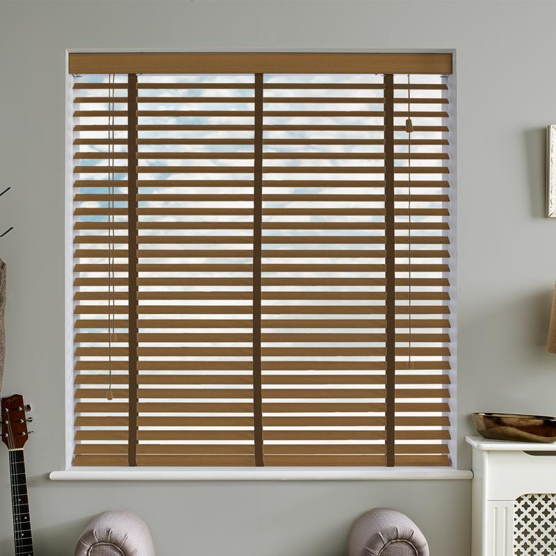 Amazon 50mm Taped Tuscan Oak Real Wood Direct Blinds