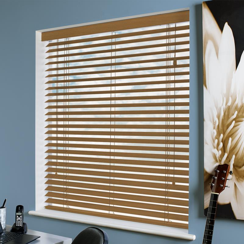 Amazon 50mm Tuscan Oak Real Wood Direct Blinds
