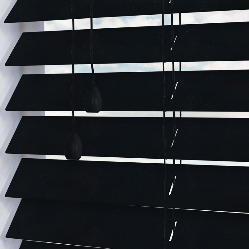 Black Wooden Blinds Made To Measure From Direct Blinds