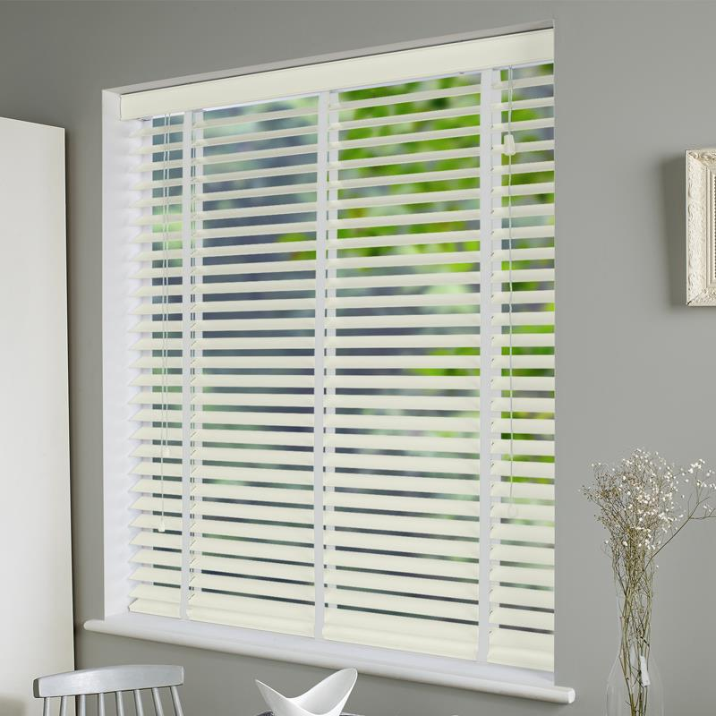 01431b275896 Nile 50mm Taped Pearl White Real Wood. Direct Blinds